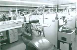 première clinique du pavillon de Médecine dentaire