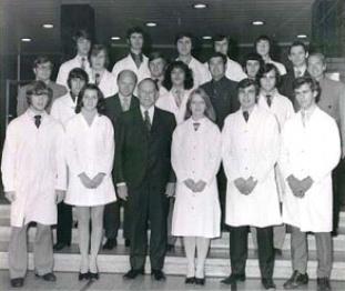 Première cohorte d'étudiants en 1970