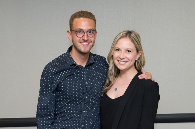 Les étudiants Mathieu Nepton et Laurie St-Pierre