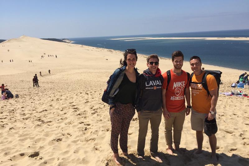 les stagiaires de Bordeaux aux dunes de Pilat