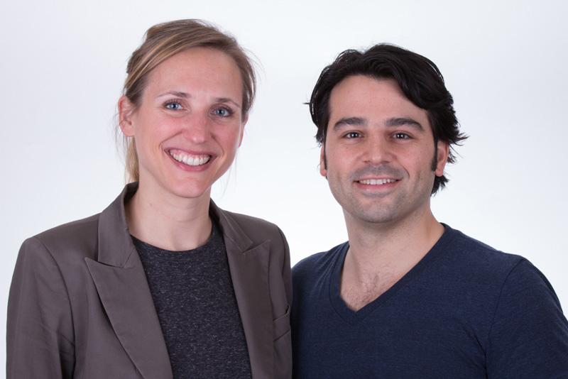 les docteurs Mathilde Clairet et Adrien Pollini